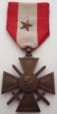 FRANCE / FRENCH THEATRES D'OPERATIONS EXTERIEURS CROSS MEDAL WITH CITATION STAR