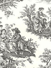Waverly Country Life Toile Wallpaper in Black and Cream    Double Roll    564303
