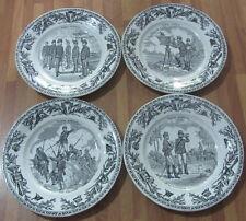 Quattro Antichi piatti CREIL et  MONTEREAU -  plate - assiette / Scene militari