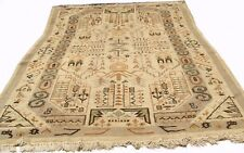 An Antique Village Tribal Moroccan Rug, 13' 4 X 9' 3 ft