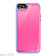 New Belkin Grip Max Case Hard Cover for iPhone 5 5S Pink Purple Bubblegum Volta