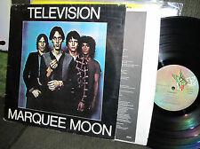 Television Marquee Moon LP w/Insert France Import 1977 Elektra tom verlaine rare