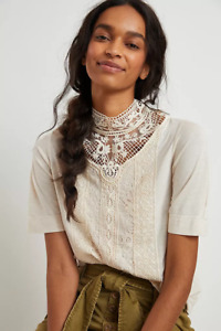 Anthropologie Celine Lace Top NEW NWT size M