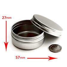 30 x 50ml Empty Cosmetic Screw Top Pots/Jars/Tins - make up *Best Buy* jla30