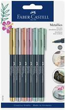 Faber Castell Metallic 1.5 marker pens, Gold, Silver, multicoloured metallic pen