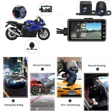 "3"" LCD 140° Wide Angle HD Motorcycle Car Biker Dual Camera DVR Video Recorder"