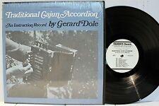 Rare Cajun Instruction LP & Inserts - Gerard Dole - Traditional Cajun Accordian