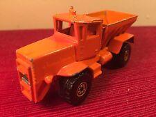 1983 HOT WHEELS OSHKOSH SNOW PLOW ORANGE DIE CAST Heavy Duty Salt Truck