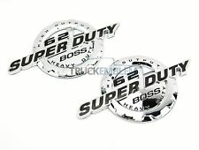 2 NEW CUSTOM CHROME FORD 11-17 6.2L V8 SUPER DUTY BADGES EMBLEMS SET PAIR