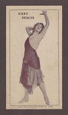 "Gaby Deslys ""VERA VIOLETTA"" Al Jolson / Mae West 1912 Baltimore Advertising Card"