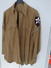 US WWII uniforme-Hem top con insignia original 2nd Infantry Division