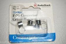"Brand New RadioShack Crimp-Ring RG-6 ""F"" Connector # 278-217"