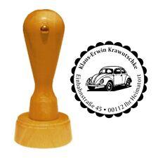Stempel « AUTO 01 » Adressenstempel Motiv Name Vintage Oldtimer Retro Verkehr