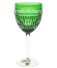 Waterford Emerald Green Cut to Clear Cased Crystal Clarendon Serenity Goblet New