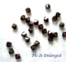 24 Burgundy Swarovski Crystal 5328 Xilion Bicone Beads 4MM