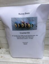 Bunny Bee Ornament Crochet Kit Makes 3, Spring, Easter Bumble Bee