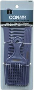Conair 14498z 3 Piece Styling Essentials Multiple Styling Options Combs