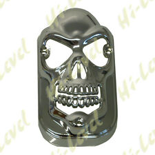 CHROME TOMBSTONE LIGHT SKULL COVER FITS OVER TOMBSTONE LENS BC21554 - T