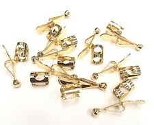 10 Genuine Faultless Pocket Pan/Pencil Clips GOLD-Made in USA