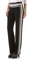 Rag and Bone Maharaja Side Stripe Trousers Pants 10 Dwight Color Block Black