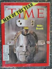 Time Magazine   January 4, 1971   Willy Brandt  GREAT ADS
