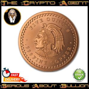 Aztec 5oz Copper Bullion Round