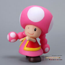 Super Mario Bros Figures Mushroom Toadette PVC Action Figure Model Toy Doll 9CM