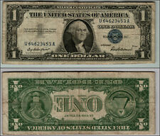 1957 1-SILVER-CERTIFICATE-BLUE-SEAL-NICE  CIRCULATED -PIECE-OF-HISTORY-W588