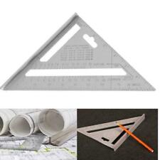 7inch Aluminum Alloy Measuring Angle Triangle Ruler Tool Woodworking Guide F4N0