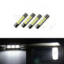 4PCS White 1.15 Inch 3SMD 5050 LED bulbs for Vanity Mirror Lights 6614F