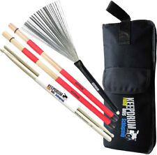keepdrum Stickbag + SV1 Rods + SV506 Switchbrush Besen + 5a Drumsticks