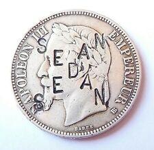 NAPOLEON III  5 francs SEDAN regravée SATIRIQUE