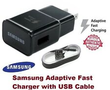 Black Original OEM Samsung Adaptive Fast Rapid Wall Charger + 5FT USB Cable