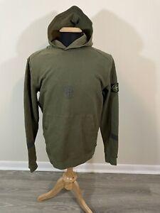 Supreme X Stone Island Olive Large hooded Sweatshirt Reflective Hoodie FW2017