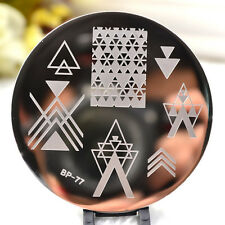 Negative Space Pattern Nail Art Stamp Template Image Plate Born Pretty Bp77 Tool