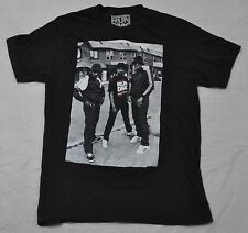 RUN DMC Band S/S T-Shirt mens M MEDIUM Black rap hip hop group EUC