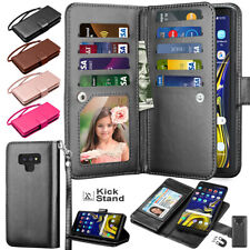 For Samsung Galaxy Note 9 8 10 Plus Card Leather Wallet Holder Stand Case Cover