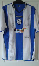 Mens Football Shirt - Sheffield Wednesday - HOME 2005-06 10 TEAM SIGNED - Size L