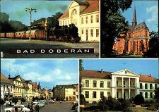 Bad Doberan um 1970/72 DDR Mehrbild-AK ua. Bäder-Bahn, Kloster-Kirche, Markt uvm