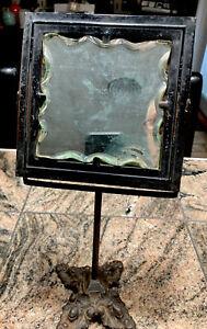 Civil War Era Antique Shaving Mirror With Stand