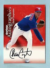 CHRIS CARPENTER 1999 SKYBOX AUTOGRAPHICS SIGNATURE AUTOGRAPH AUTO