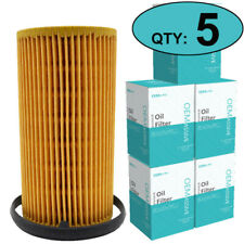 Set Of 5, 06D115562 Oil Filters For Audi A3 A4 VW Golf Seat Engine 2.0L / 2.5L