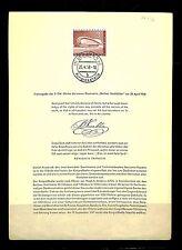 GERMANY BERLIN  ETB  ERSTTAG BLATT  1958-4-26   CV € 360 !!  ALMOST VF