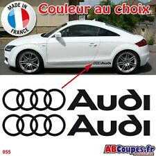 Stickers Bas de caisse Audi - Autocollants A1 A2 A3 A4 A5 A6 A7 Q3 Q5 Q7 TT -055