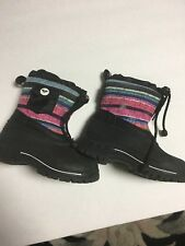 Guc Girls Snow Boots Size 10 Black