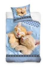 Wende-Bettwäsche-Set mit Katzenbaby-Motiv 135x200 Bettzeug Bettwaren Katze Welpe