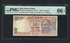 India 10 Rupees 2010 P95s Uncirculated Graded 66