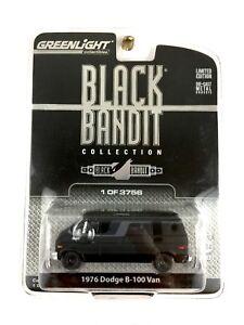Greenlight Black Bandit 1976 76 Dodge B-100 Van Die Cast 1/64 Scale 1 of 3756