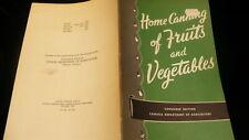 Home canning Dept agriculture #789 fruit & vegetables  Canada 1965 pamphlet