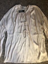 Express Cream Top/shirt Long Sleeve Small New With Tags